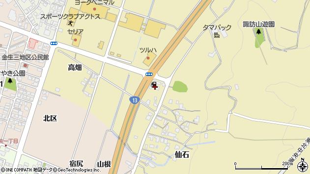 山形県上山市仙石糸目尻周辺の地図