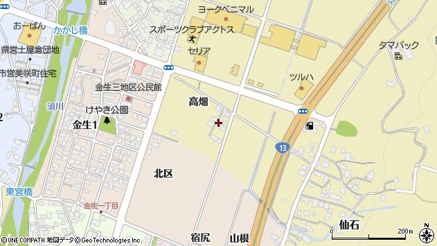 山形県上山市仙石高畑887周辺の地図