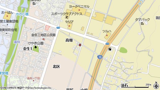 山形県上山市仙石高畑855周辺の地図
