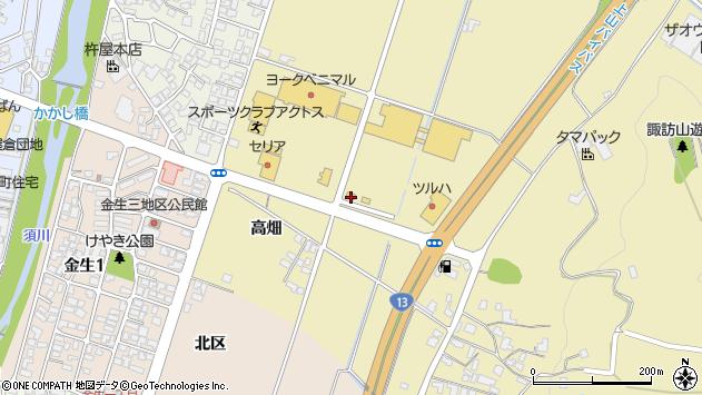 山形県上山市仙石梅ノ木周辺の地図