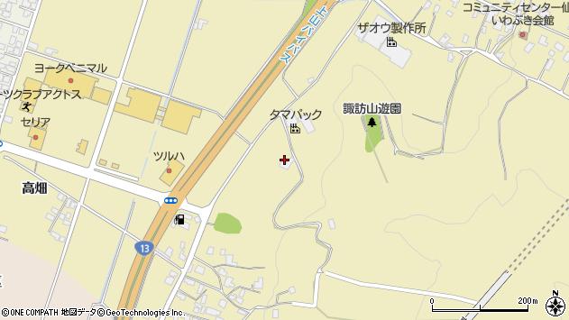 山形県上山市仙石安如寺288周辺の地図