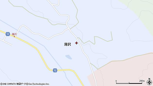 山形県上山市高野薄沢34周辺の地図
