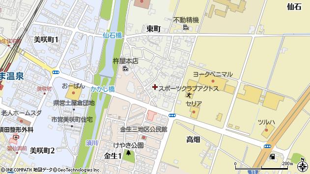 山形県上山市東町7周辺の地図