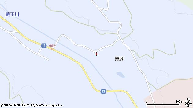 山形県上山市高野薄沢111周辺の地図
