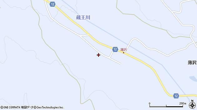 山形県上山市高野上河原周辺の地図