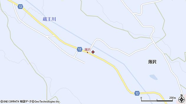 山形県上山市高野河原山周辺の地図