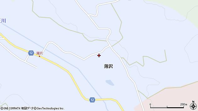 山形県上山市高野薄沢97周辺の地図