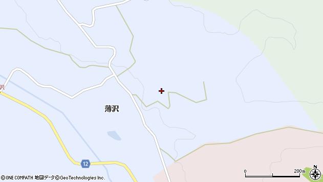 山形県上山市高野薄沢2周辺の地図