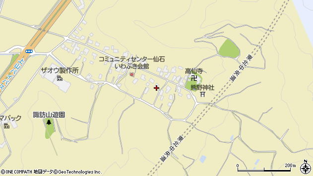 山形県上山市仙石13周辺の地図