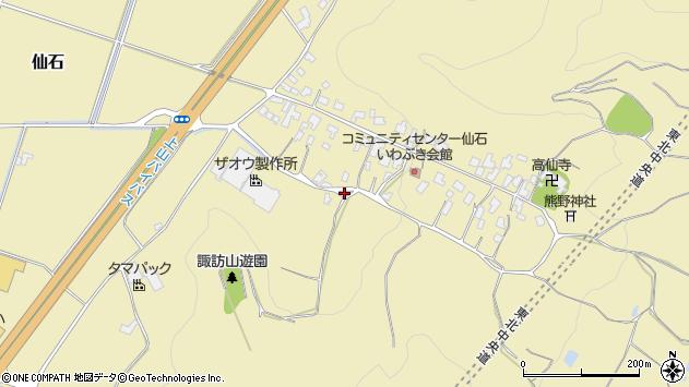 山形県上山市仙石大沢77周辺の地図