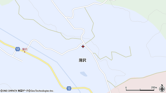 山形県上山市高野薄沢86周辺の地図