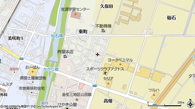 山形県上山市東町9周辺の地図
