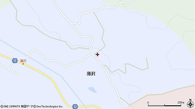 山形県上山市高野薄沢82周辺の地図