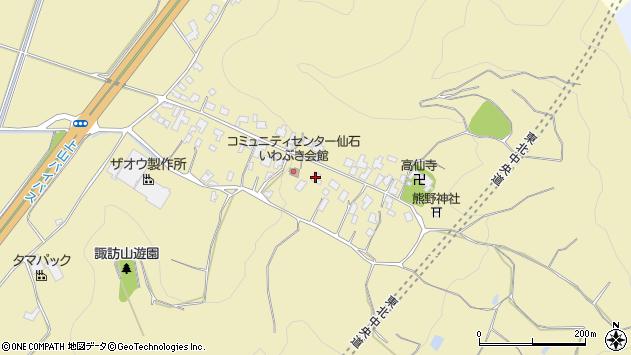 山形県上山市仙石19周辺の地図