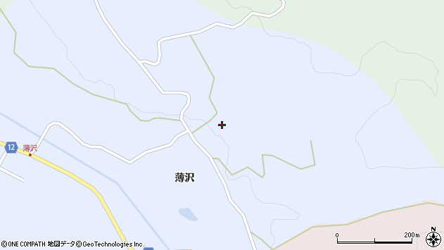 山形県上山市高野薄沢80周辺の地図