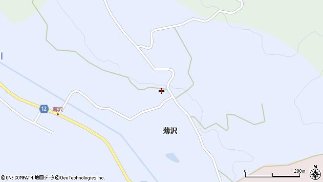山形県上山市高野薄沢296周辺の地図