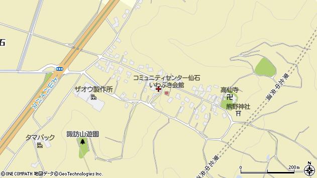 山形県上山市仙石29周辺の地図
