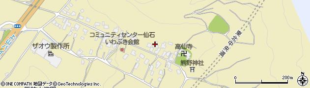 山形県上山市仙石14周辺の地図