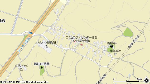 山形県上山市仙石31周辺の地図