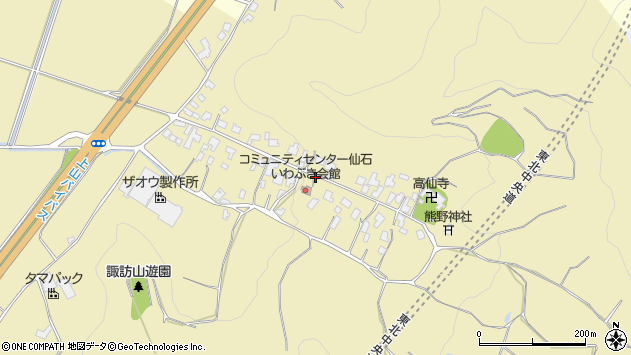 山形県上山市仙石24周辺の地図