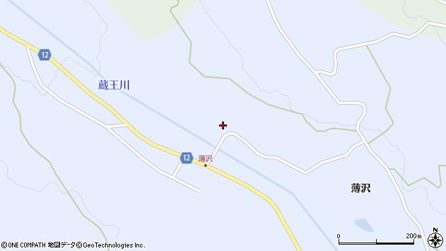 山形県上山市高野薄沢132周辺の地図