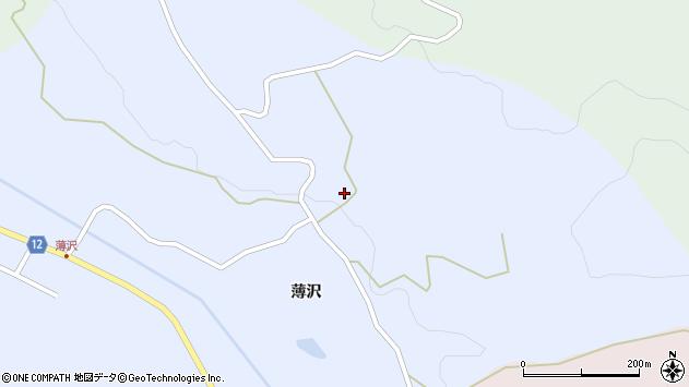 山形県上山市高野薄沢304周辺の地図