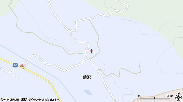 山形県上山市高野薄沢303周辺の地図