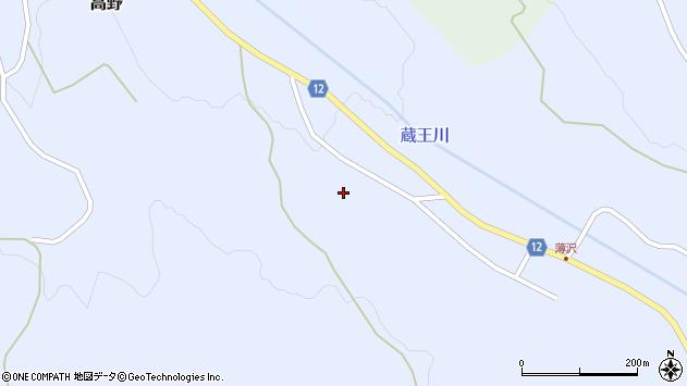 山形県上山市高野高野原213周辺の地図