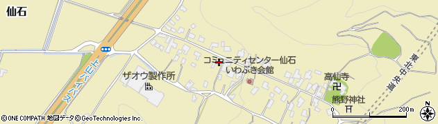 山形県上山市仙石35周辺の地図
