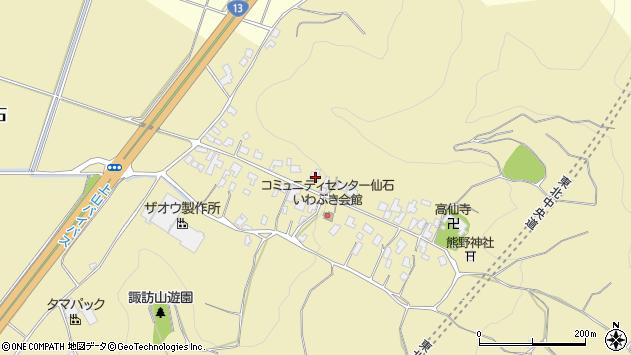 山形県上山市仙石30周辺の地図