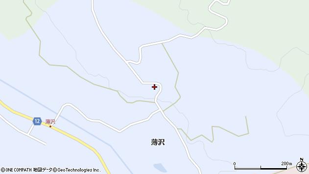山形県上山市高野薄沢318周辺の地図