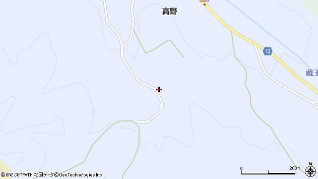山形県上山市高野大林26周辺の地図