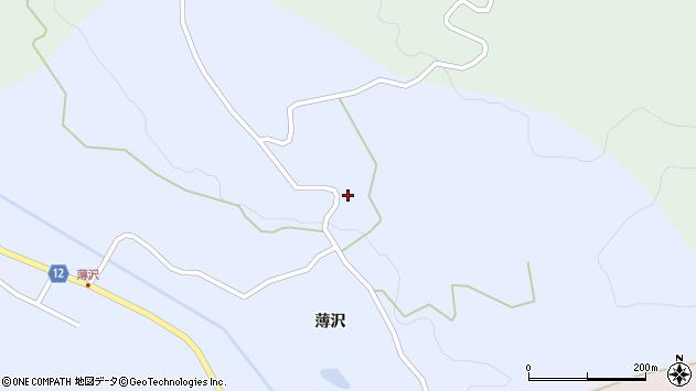 山形県上山市高野薄沢316周辺の地図