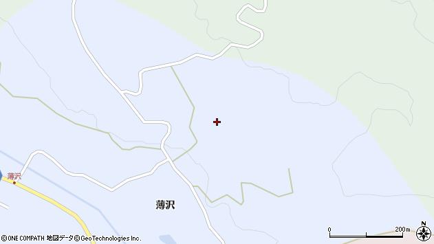山形県上山市高野野手倉周辺の地図