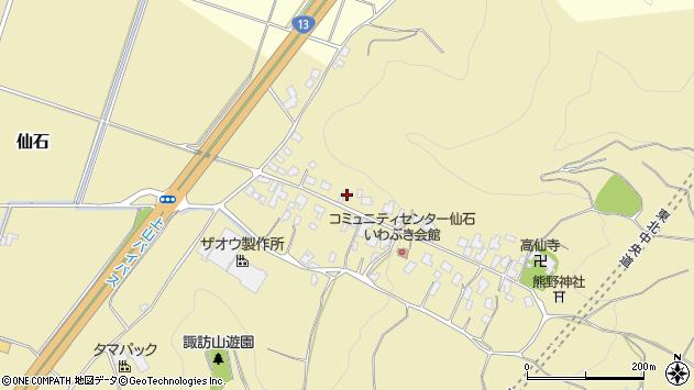 山形県上山市仙石37周辺の地図