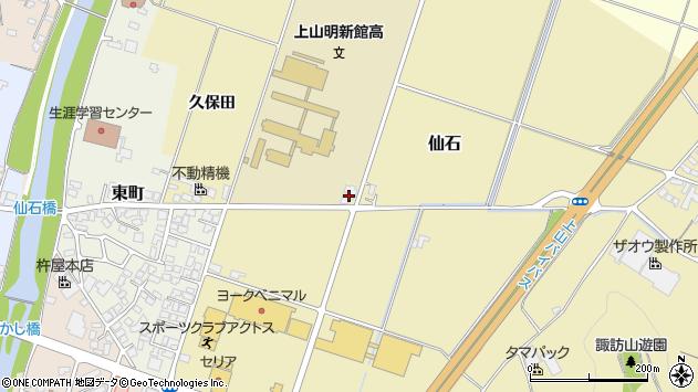 山形県上山市仙石立道周辺の地図