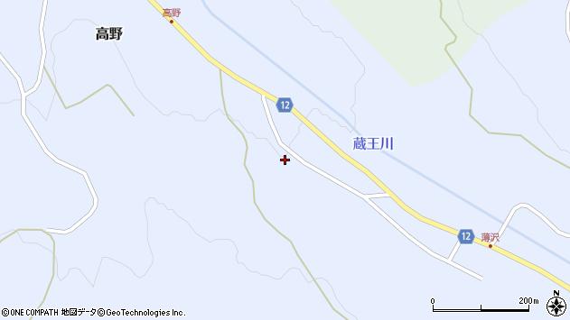 山形県上山市高野高野原209周辺の地図