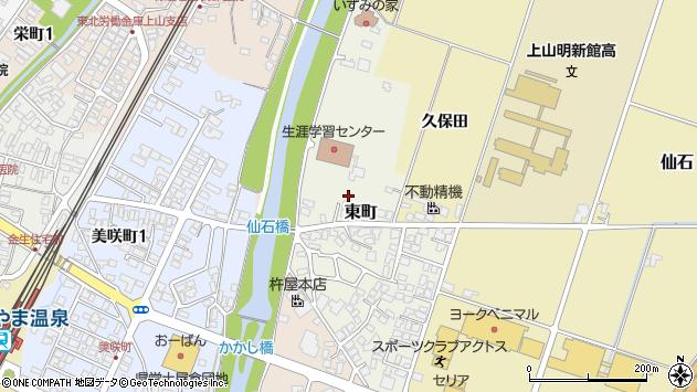 山形県上山市東町3周辺の地図