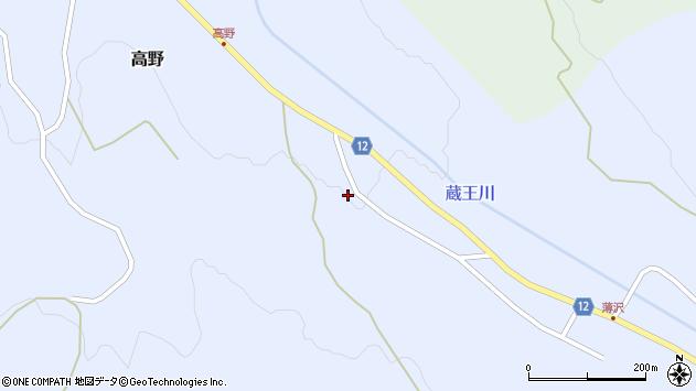 山形県上山市高野高野原192周辺の地図