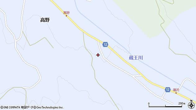 山形県上山市高野高野原163周辺の地図