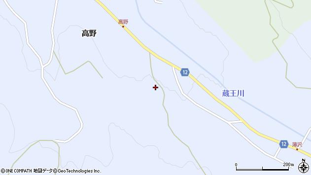 山形県上山市高野高野原5周辺の地図