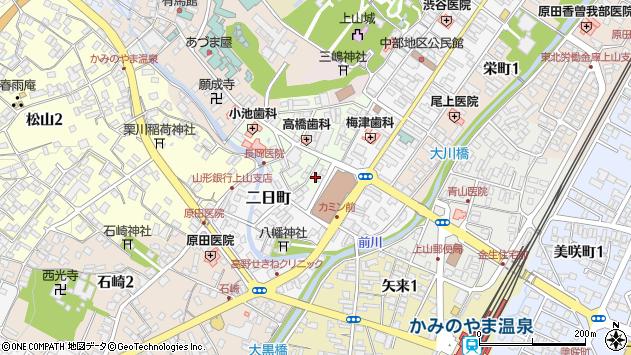 山形県上山市沢丁1周辺の地図