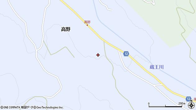 山形県上山市高野高野原18周辺の地図