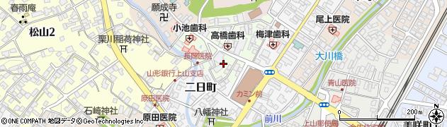 山形県上山市沢丁2周辺の地図