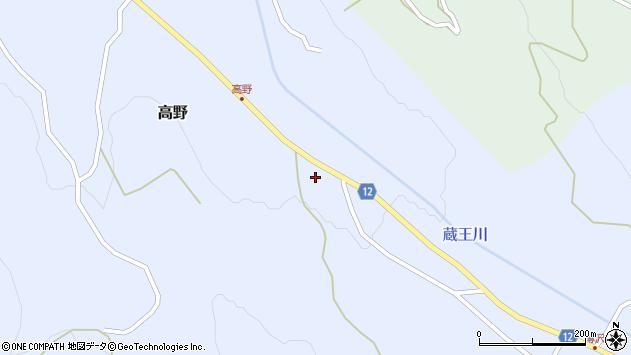 山形県上山市高野高野原178周辺の地図