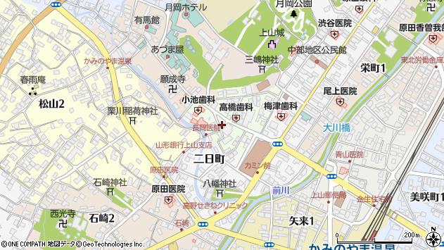 山形県上山市沢丁7周辺の地図