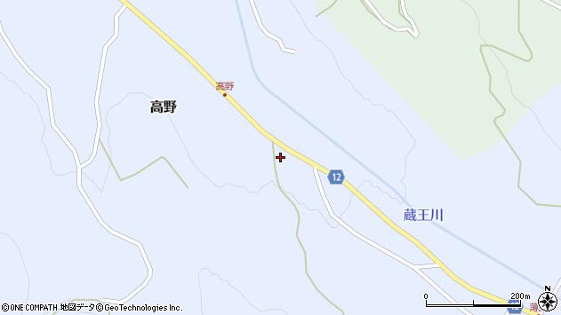 山形県上山市高野高野原177周辺の地図