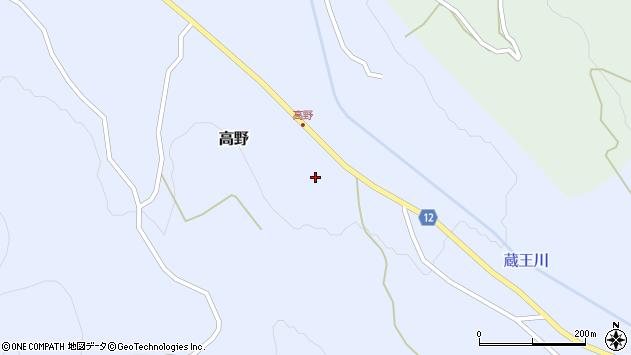 山形県上山市高野44周辺の地図