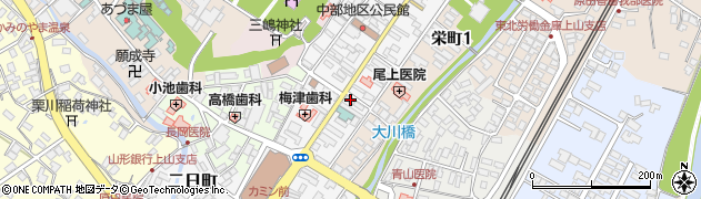 山形県上山市十日町周辺の地図