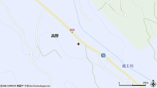 山形県上山市高野高野原43周辺の地図